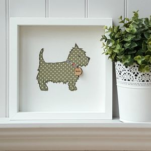 Personalised West Highland Terrier Framed Artwork