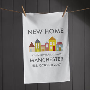 Personalised New Home Tea Towel - kitchen accessories