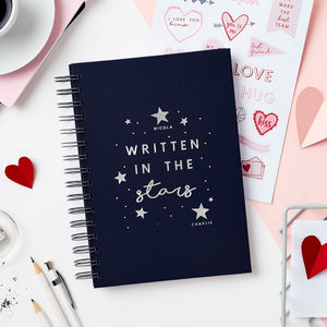 Stars Notebook Or Memory Book With Stickers - personalised