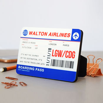 Personalised Wooden Boarding Pass