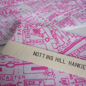 'Notting Hill' Map Handkerchief - stocking fillers for him