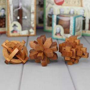 Three Classic Wooden Puzzles Based On Great Minds - shop by price