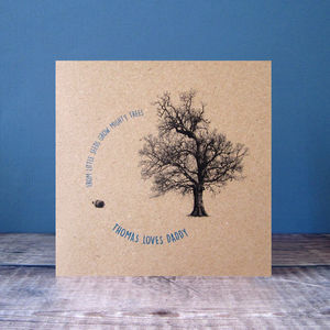 Personalised 'From Little Acorns' Card - sentimental cards