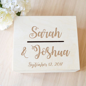 Wedding Card Box - advice cards & table games