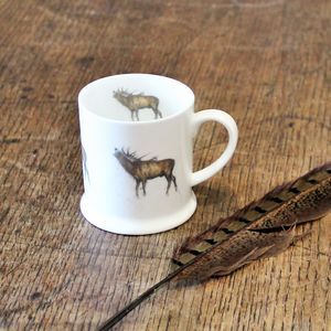 Stag Bone China Mini Mug - mugs