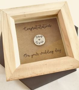 Personalised Bride And Groom Token Gift