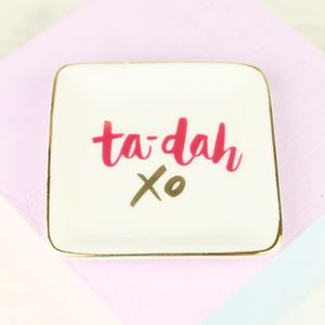 'Ta Da' Ceramic Ring Dish - jewellery sale