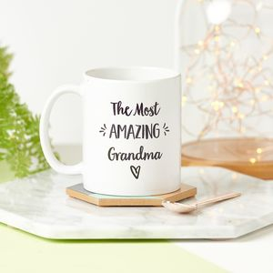 Personalised Amazing Grandma Mug - gifts for grandparents