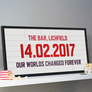 Personalised Cinema Marquee Sign Print - original gifts for him