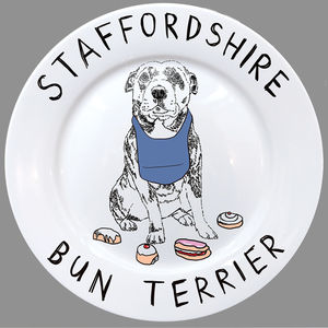 Staffordshire Bun Terrier Side Plate