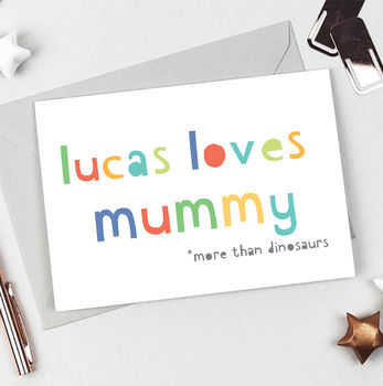 Personalised 'Loves Mummy' Card
