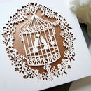 Birdcage Laser Cut In Rose Gold