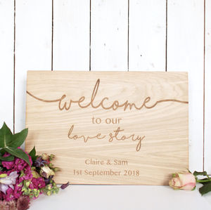 Personalised Wedding Welcome Sign - room signs