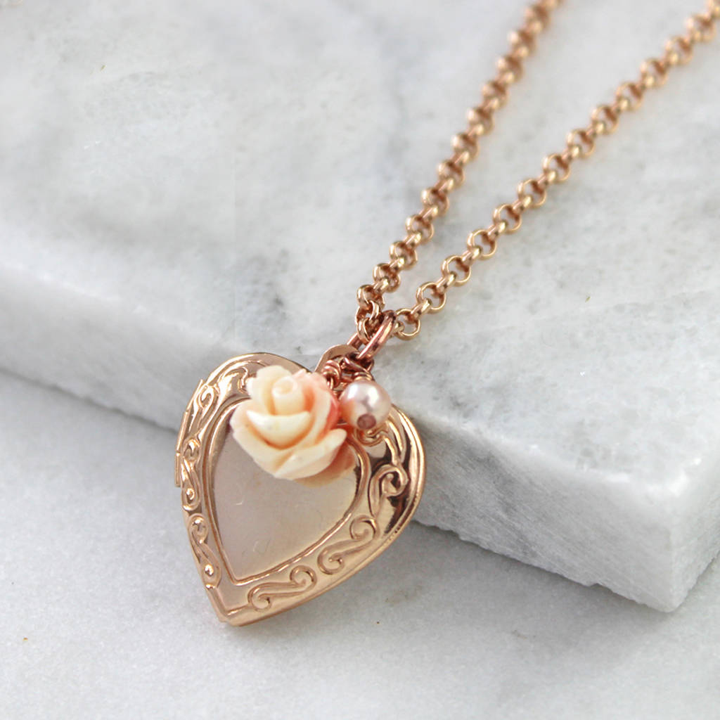 jewelry rose jeweler bridge heart locket lockets engraved ben hand gold