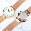 Personalised Rose Gold Engraved Message Watch
