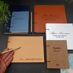 Personalised Leather Travel Sketch Book