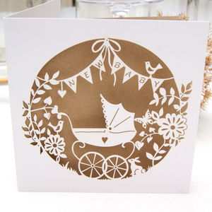 New Baby Laser Cut Greeting Card - new baby cards