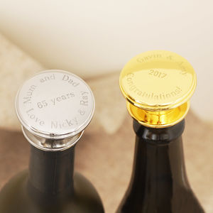 Personalised Wine Bottle Stopper - by year