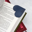 Personalised Leather Heart Page Corner Bookmark