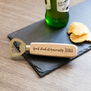 Personalised Good Luck At University Bottle Opener Gift