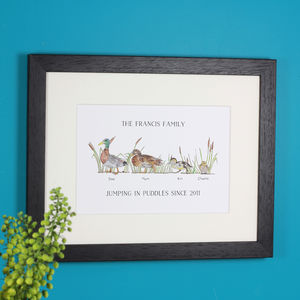 Personalised Duck Family Print