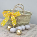 Easter Hunt Basket With Yellow Bow