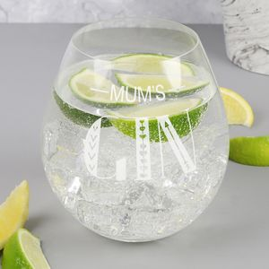 Personalised 'Gin' Glass Tumbler