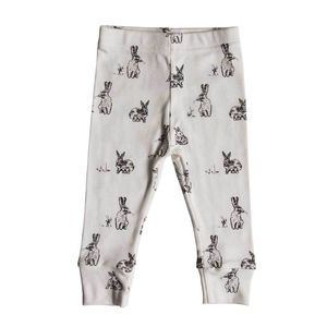 Rabbit Print Leggings - children's trousers