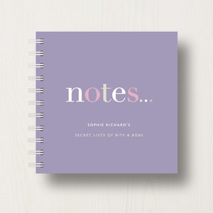 Personalised To Do 'Notes' Small Notebook