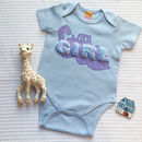 Blue Girl Babygrow Gift For Babies