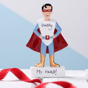 Superhero Personalised Decoration Keepsake - cake decoration