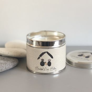 Pebble People New Baby Tin Candle