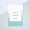 Teal Ombre Wedding Invites