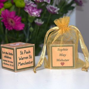 Personalised Christening Block - baby & child sale