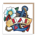 Dad Tattoo Birthday Greetings Card