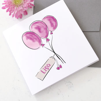 Personalised Balloon Card