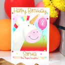 Personalised Unicorn Rainbow Birthday Card