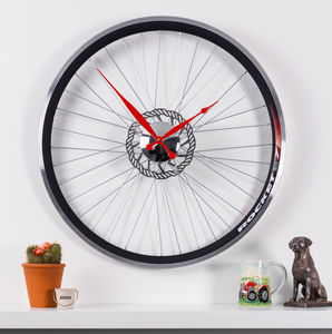 Racing Bike Wheel Clock With Brake Disc - decorative accessories