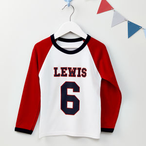 Boys Personalised Age T Shirt - clothing