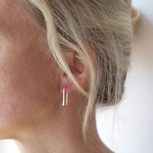 Silver Mini Arch Earrings - contemporary jewellery