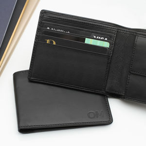 Luxury Italian Leather Personalised Billfold Wallet - wallets & money clips