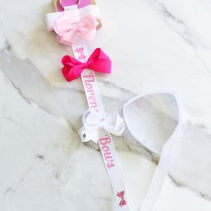 Hairbows And Personalised Bow Holder Gift Set