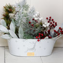 Personalised Festive Reindeer Metal Planter Baskets