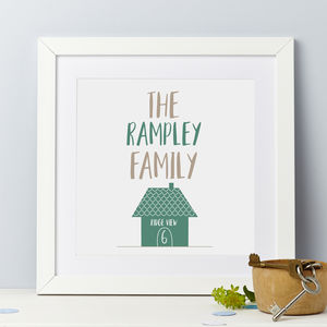 New Home Personalised Family Print