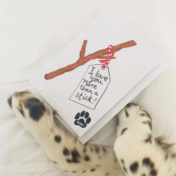 Personalised Mother's Day Or Birthday Card From The Dog