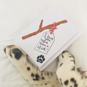 Personalised Birthday Or Father's Day Card From The Dog