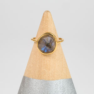 Semi Precious Organic Shape Ring