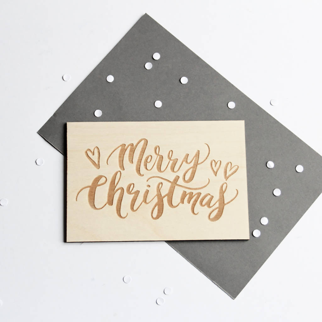 Merry Christmas Wooden Card