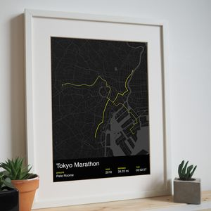 Personalised Tokyo Marathon Map Print - what's new