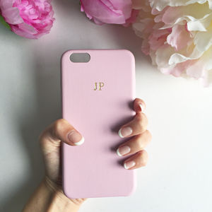 Soft Pink Leather Embossed Phone Case - accessories sale
